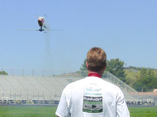 Jason Hicks flying his Heli inverted in California